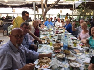 Lunch at the Green Valley Restaurant in Jericho