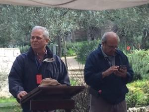 Hear preaching in the Garden of Gethsemane.
